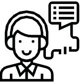 Icon Of A Phone Operator With Speech Box